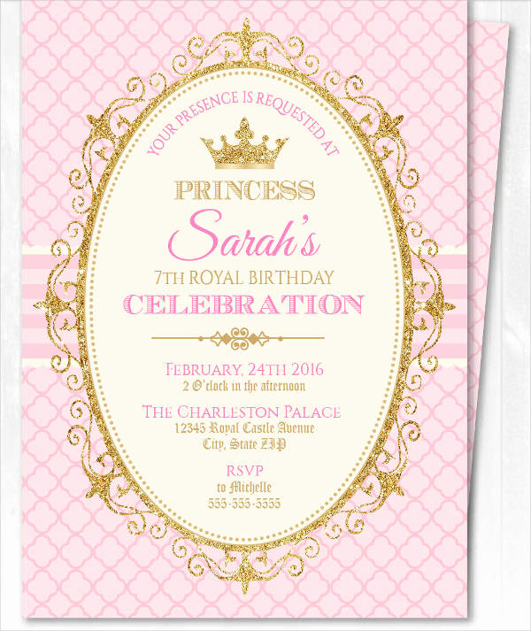Princess Party Invitation Template Beautiful 18 Beautiful Princess Invitations Psd Ai