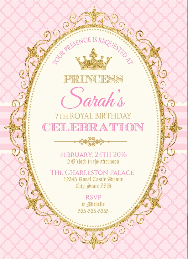 Princess Party Invitation Template Best Of 23 Birthday Party Invitation Designs Word Psd Ai
