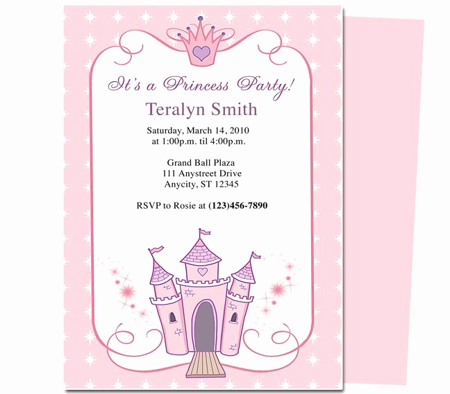 Princess Party Invitation Template Best Of Kids Party Princess Kids Birthday Party Invitation