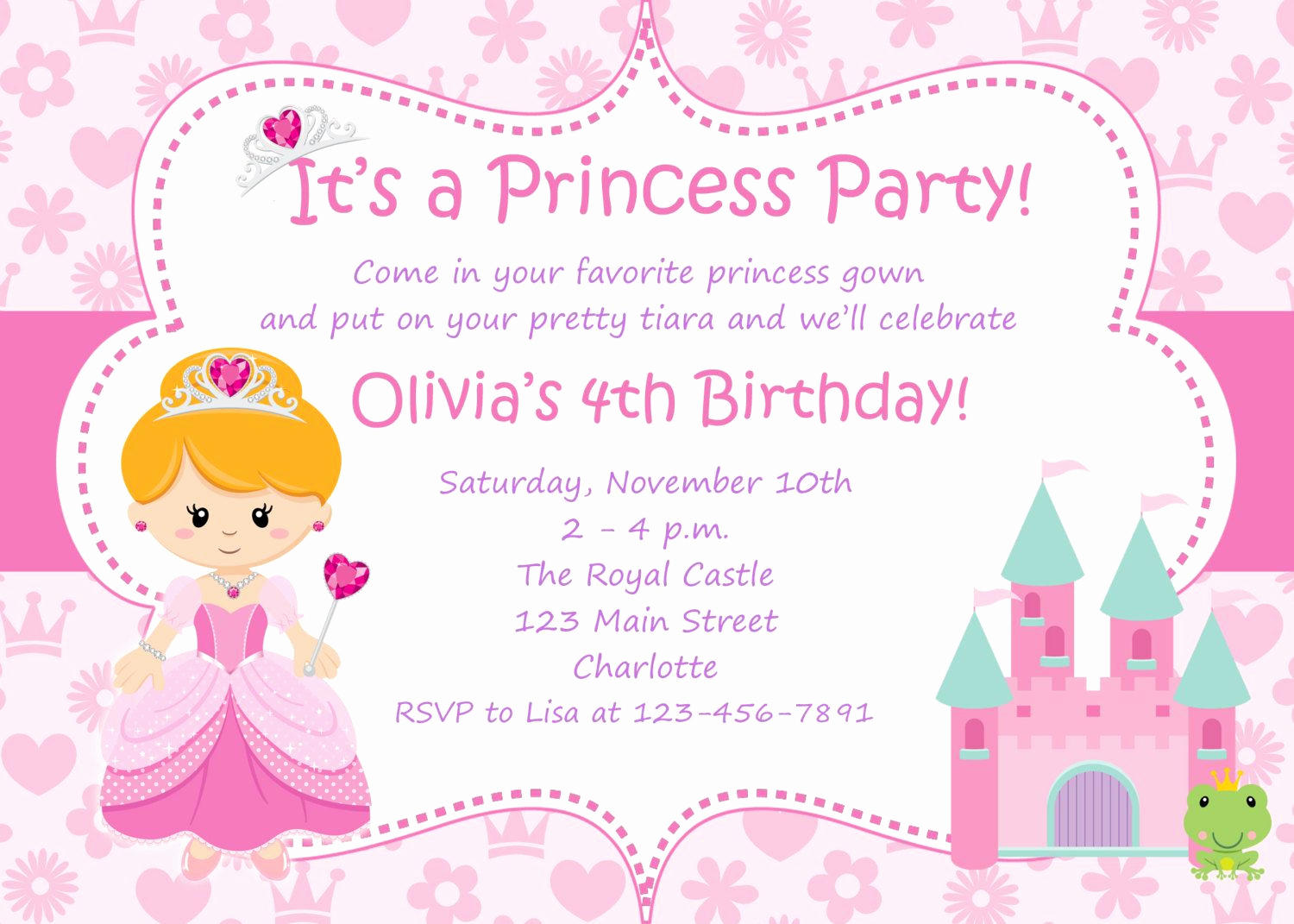 Princess Party Invitation Template Fresh Google Image Result for