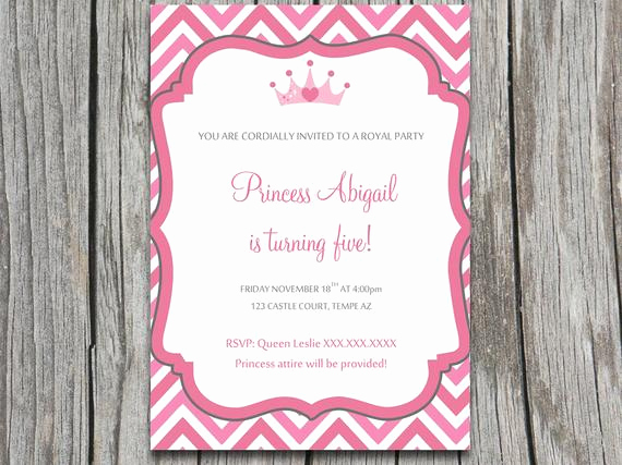 Princess Party Invitation Template Inspirational Instant Download Royal Princess Party Invite Microsoft