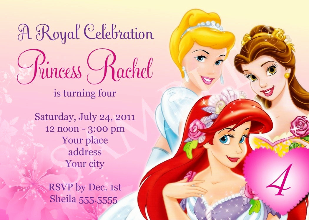 Princess Party Invitation Template Lovely Princess Birthday Invitation Template Digital File