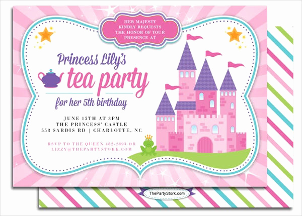 Princess Party Invitation Template Luxury 10 Princess Party Invitations Psd Ai