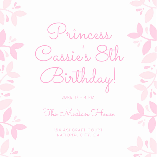 Princess Party Invitation Template New Customize 174 Princess Invitation Templates Online Canva
