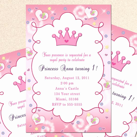 Princess Party Invitation Wording Beautiful Royal Princess Birthday Invitation Girl Princess by Pinkthecat