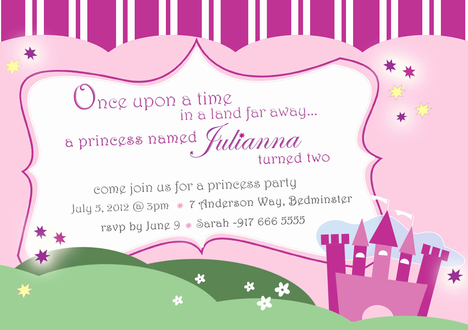 Princess Party Invitation Wording Elegant Princess Invitation Princess Birthday Castle Princess