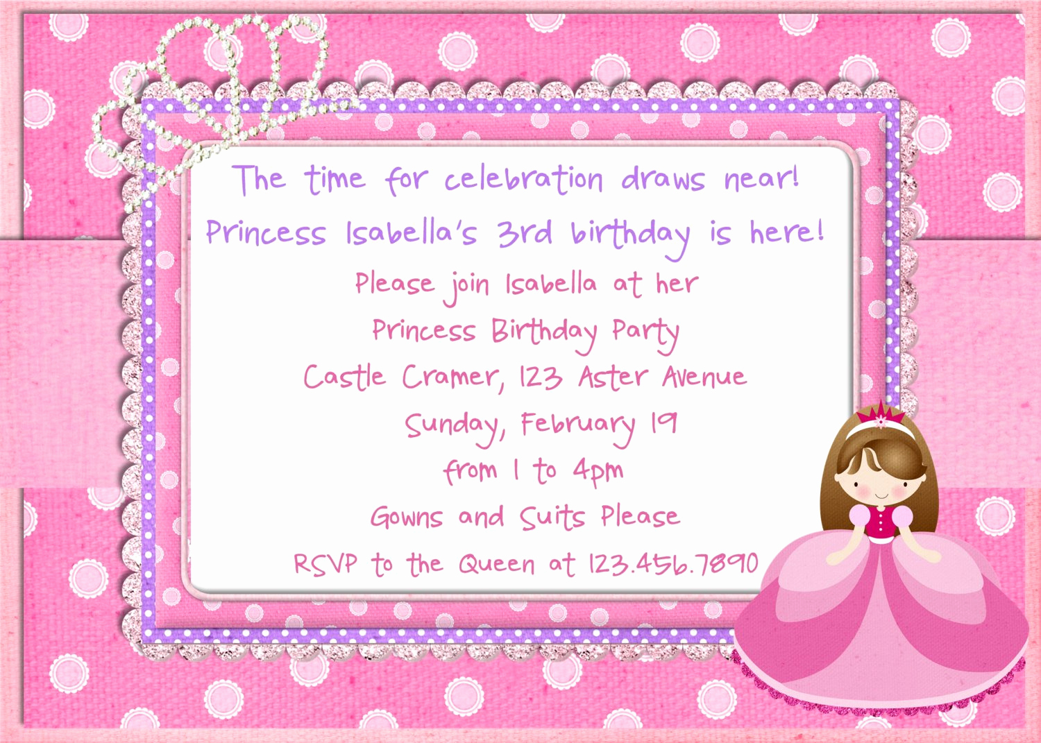 Princess Party Invitation Wording Fresh 10th Birthday Party Invitation Wording