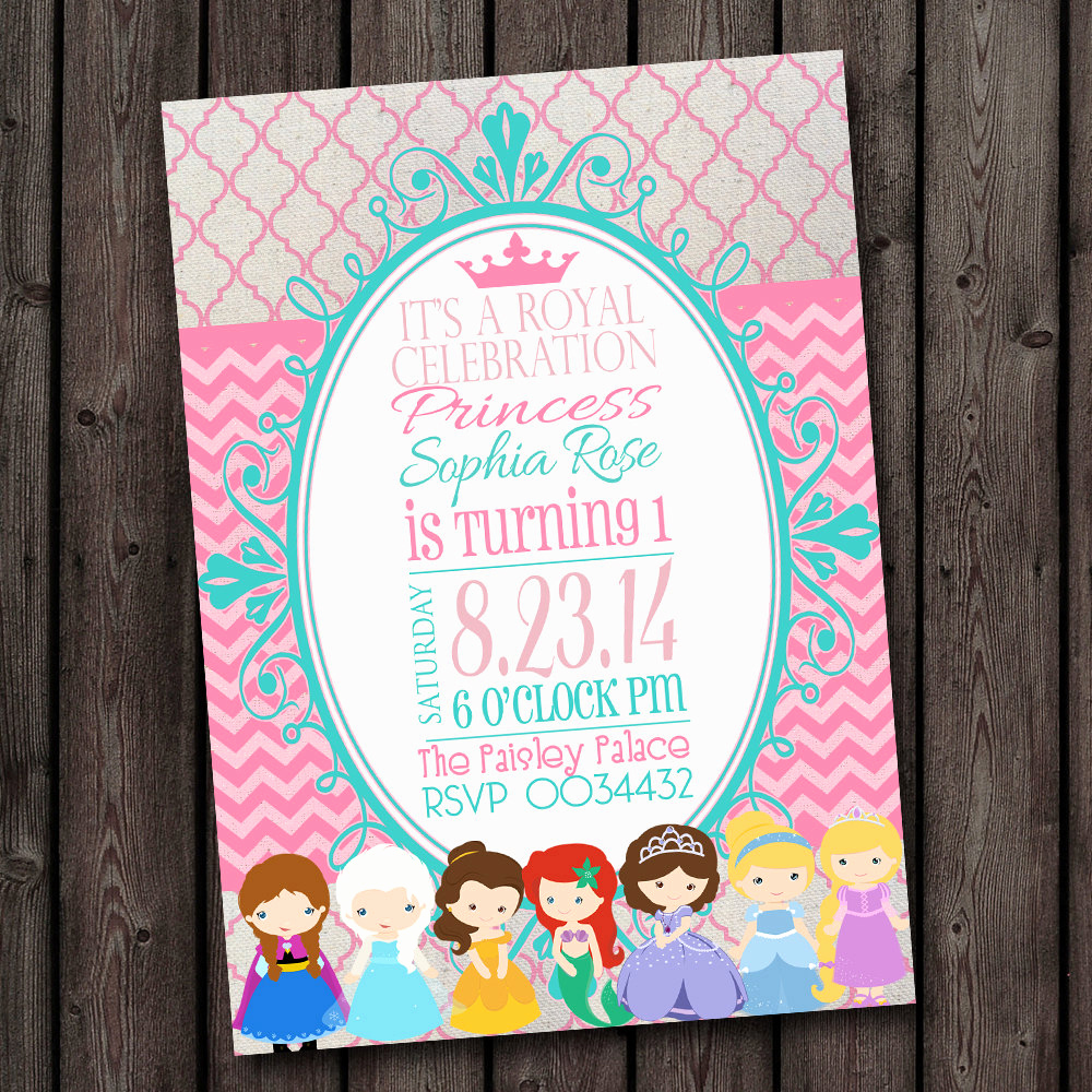 Princess Party Invitation Wording Luxury Princess Invitation Royal Princess Party Invitation Free