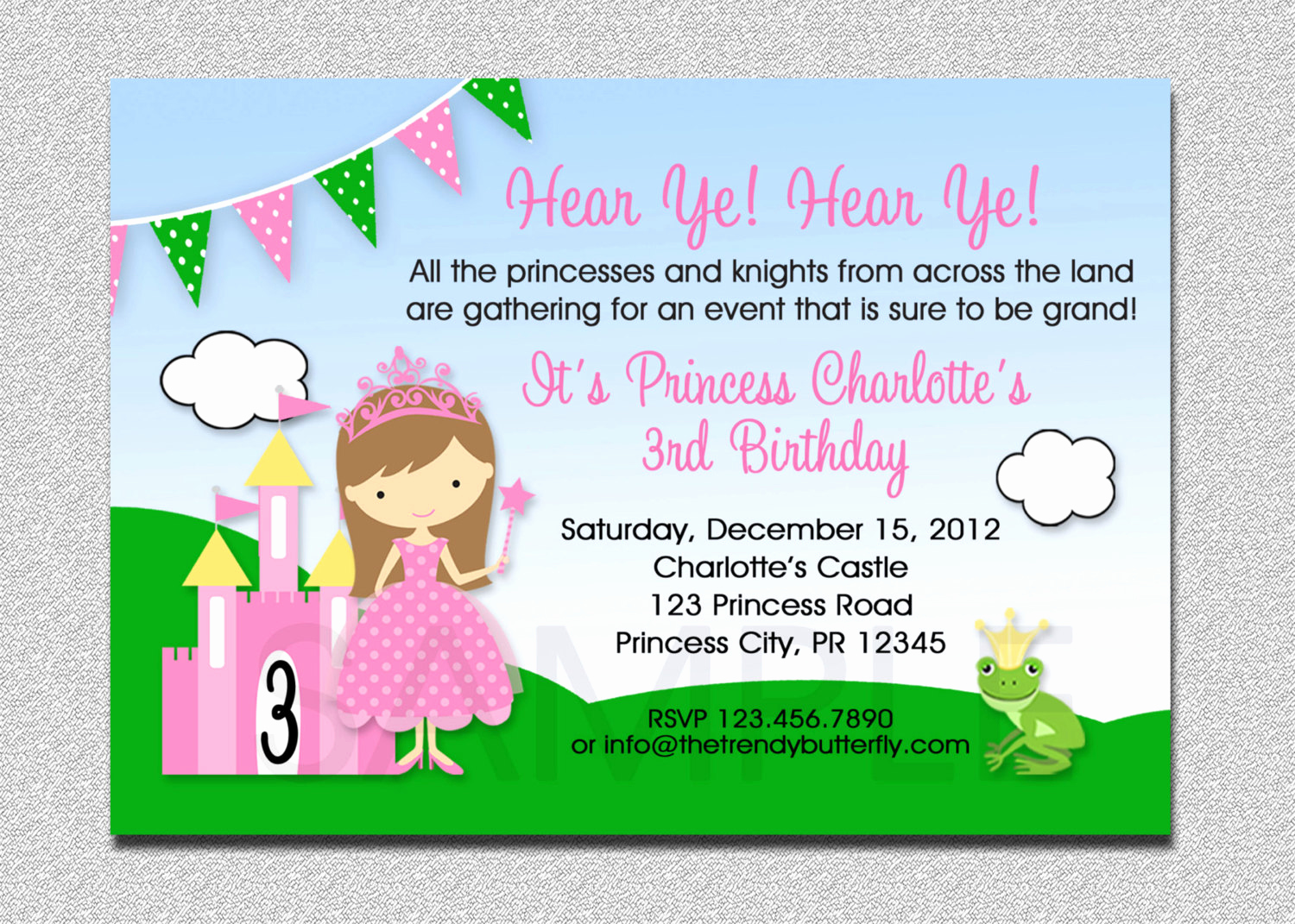 Princess Party Invitation Wording Unique Princess Birthday Invitation Princess Birthday Party