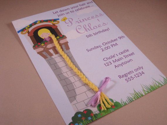 Princess Tea Party Invitation Wow Elegant Rapunzel Princess Birthday Party Custom Invitations Let