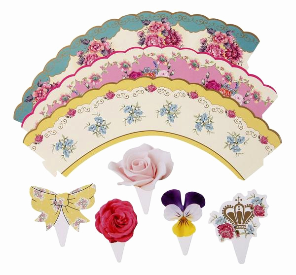 Princess Tea Party Invitation Wow Luxury Truly Scrumptious Cakewrap & toppers Bickiboo Party Supplies