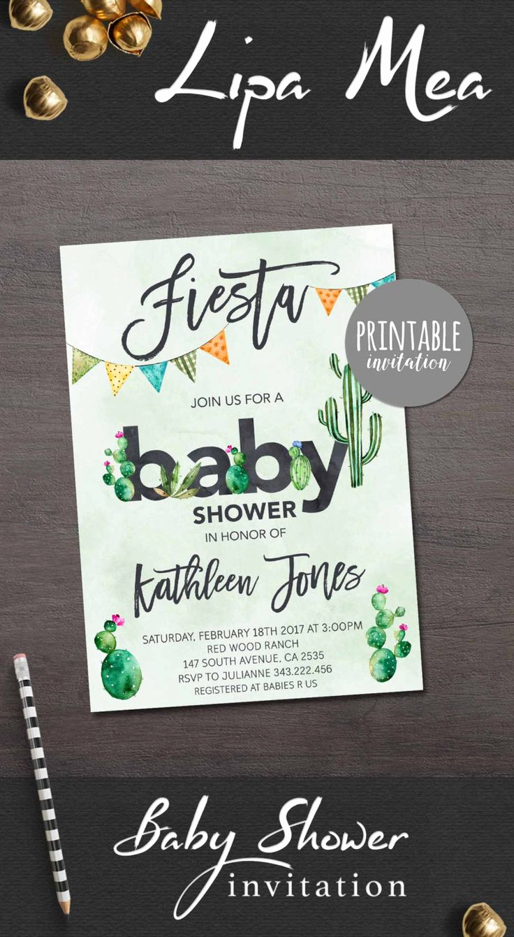 Printable Baby Shower Invitation Best Of 25 Best Ideas About Mexican Babies On Pinterest