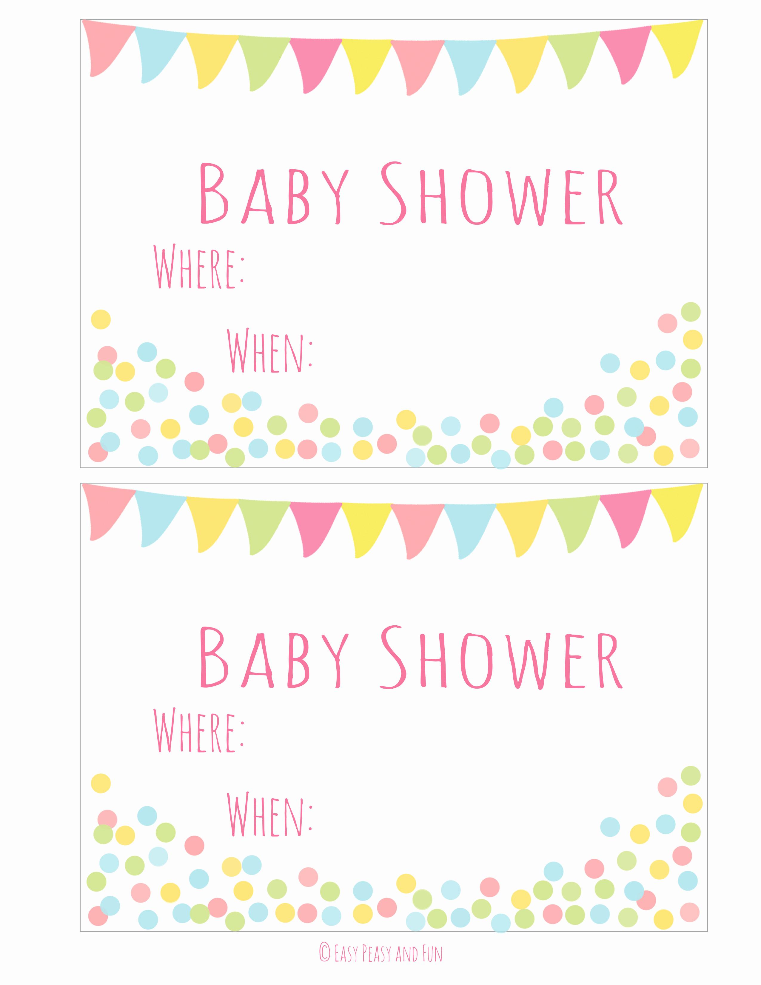Printable Baby Shower Invitation Luxury Printable Baby Shower Cards Girl Baby Shower Food Cards
