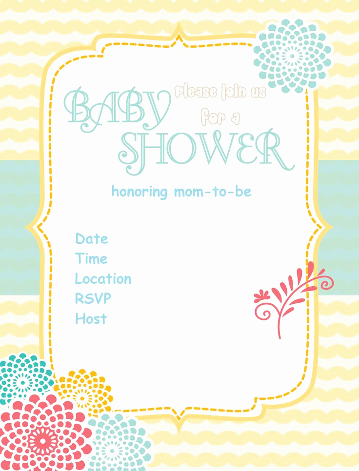 Printable Baby Shower Invitation New 11 Best Free Printable Baby Shower Invitations Images On