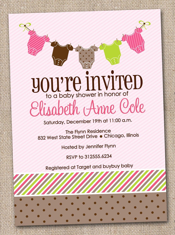 Printable Baby Shower Invitation New Printable Baby Shower Invitations Girl Baby Tees Bunting