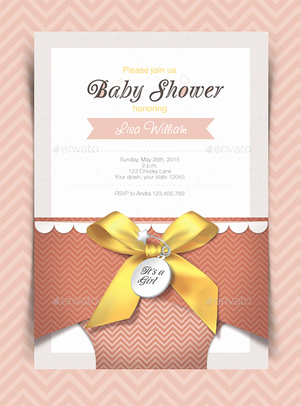Printable Baby Shower Invitation Templates Fresh 35 Baby Shower Card Designs & Templates Word Pdf Psd