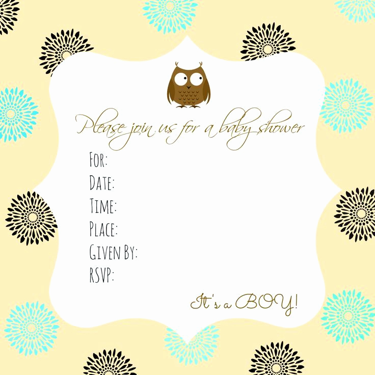 Printable Baby Shower Invitation Templates Fresh Best 25 Free Baby Shower Invitations Ideas On Pinterest