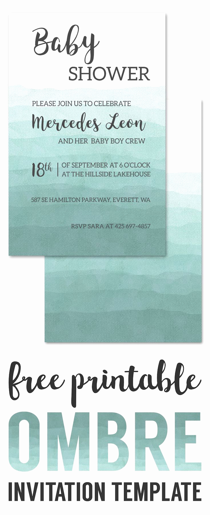 Printable Baby Shower Invitation Templates Inspirational 25 Unique Baby Shower Invitation Templates Ideas On