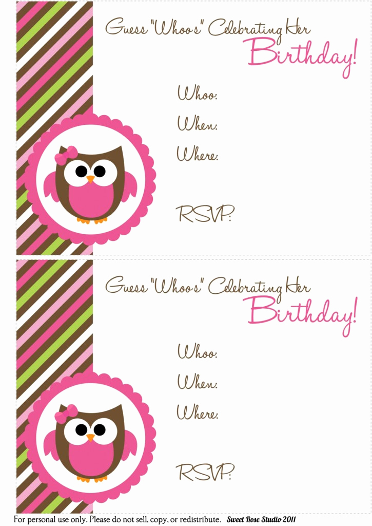 Printable Birthday Invitation Cards Awesome 41 Printable Birthday Party Cards & Invitations for Kids