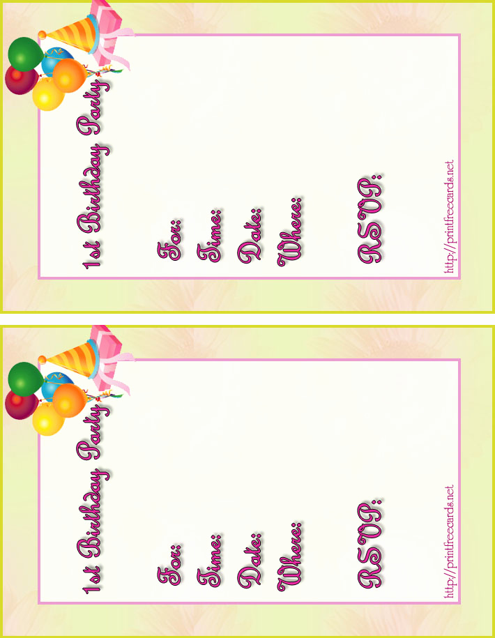 Printable Birthday Invitation Cards Elegant Free Kids Birthday Invitations Free Printable Children S