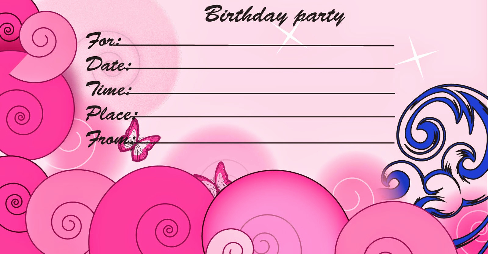 Printable Birthday Invitation Cards Fresh Printable Birthday Cards Printable Invitation Cards