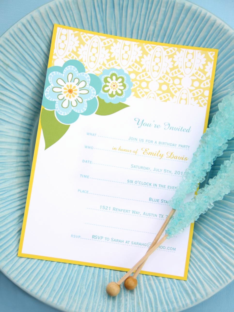 Printable Birthday Invitation Cards Lovely 16 Free Printable Party Invitations for Any Occasion