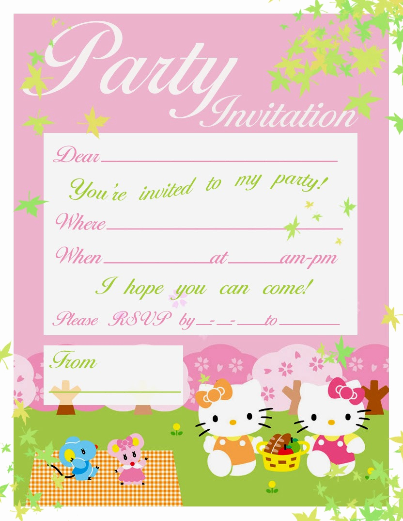Printable Birthday Invitation Cards Unique Pretty Practical Mom Free Printable Hello Kitty Invitations