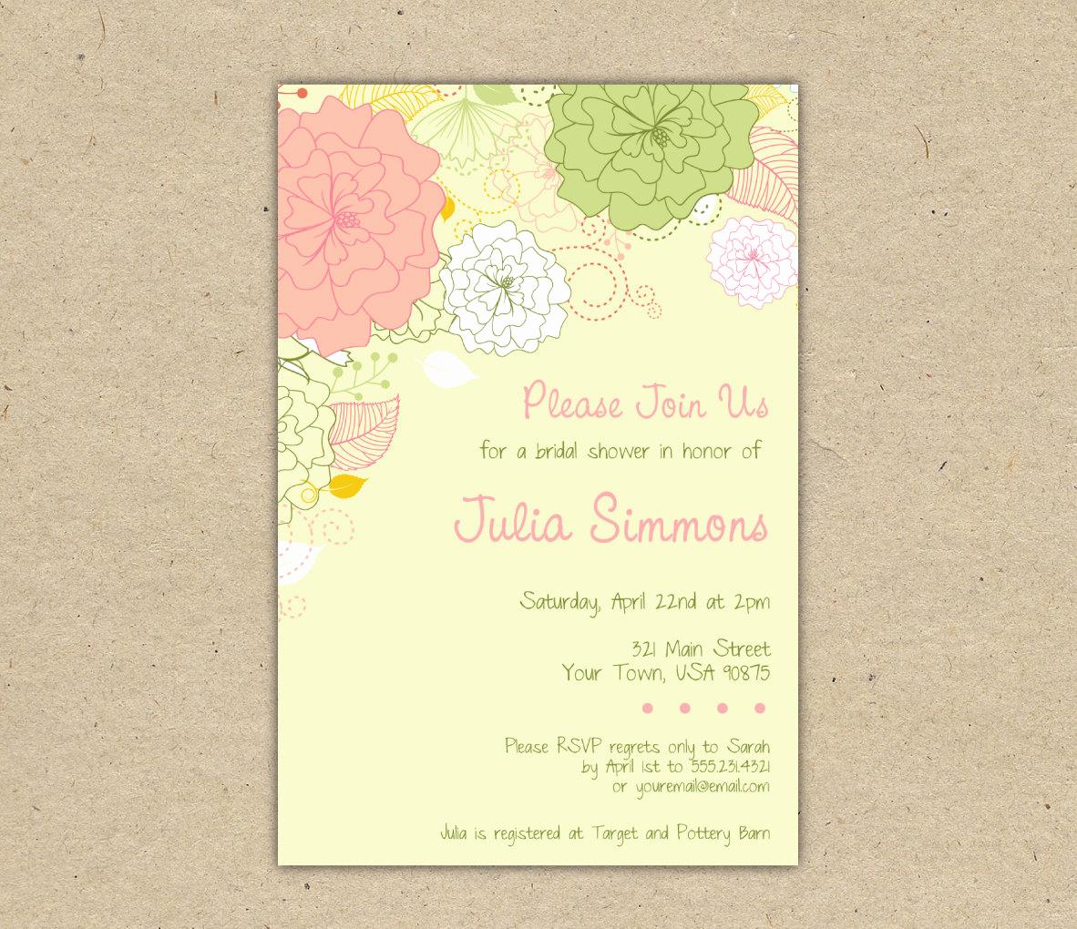 Printable Bridal Shower Invitation Templates Awesome Rustic Bridal Shower Invitation Templates