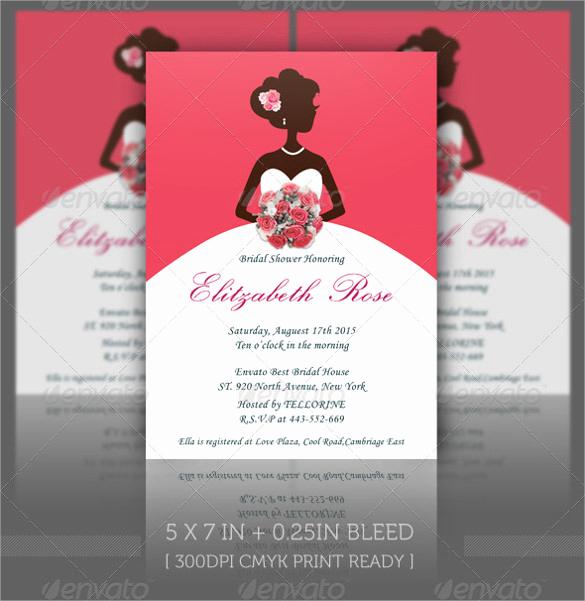 Printable Bridal Shower Invitation Templates Beautiful Free 37 Best Bridal Shower Invitation Templates In
