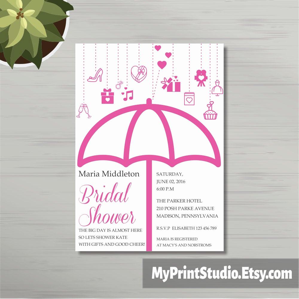 Printable Bridal Shower Invitation Templates Inspirational Bridal Shower Invitation Template Diy Printable Printed