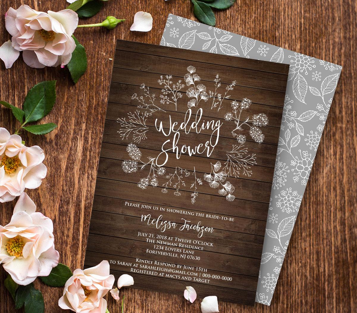 Printable Bridal Shower Invitation Templates Lovely Wedding Shower Invitation Template Couples Shower Printable