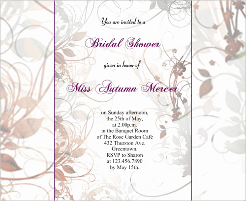 Printable Bridal Shower Invitation Templates Luxury 33 Psd Bridal Shower Invitations Templates