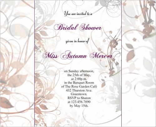Printable Bridal Shower Invitation Templates Luxury 33 Psd Bridal Shower Invitations Templates