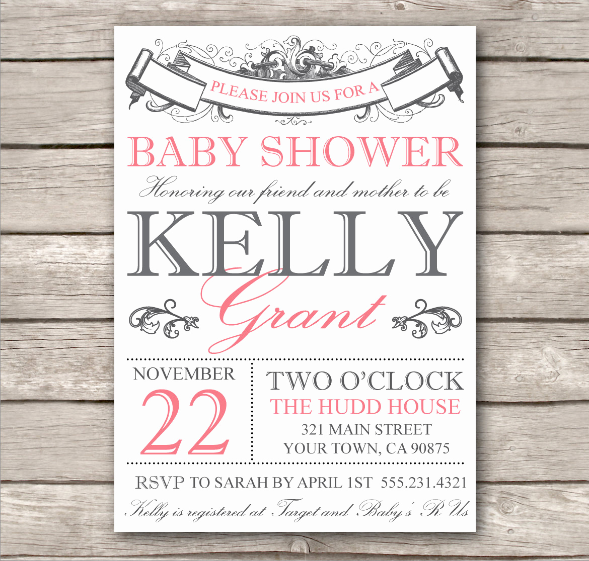 Printable Bridal Shower Invitation Templates Luxury Bridal Shower Invitation or Baby Shower Invitation by