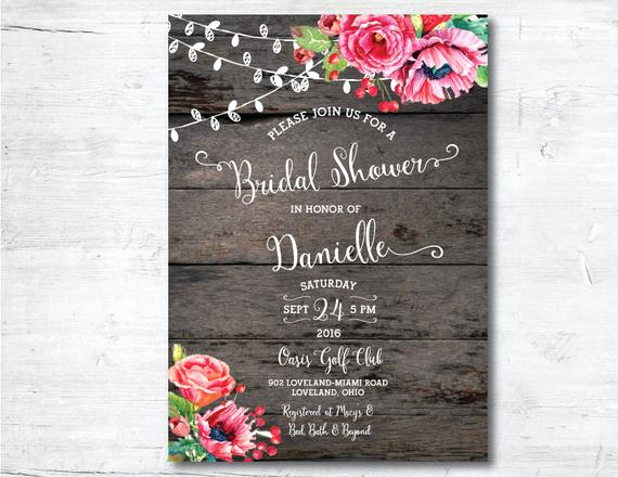 Printable Bridal Shower Invitation Templates Unique Wedding Shower Invitation Template Printable Bridal Shower
