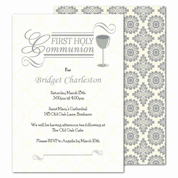 Printable First Communion Invitation Lovely Party Invitations Free Printable First Holy Munion