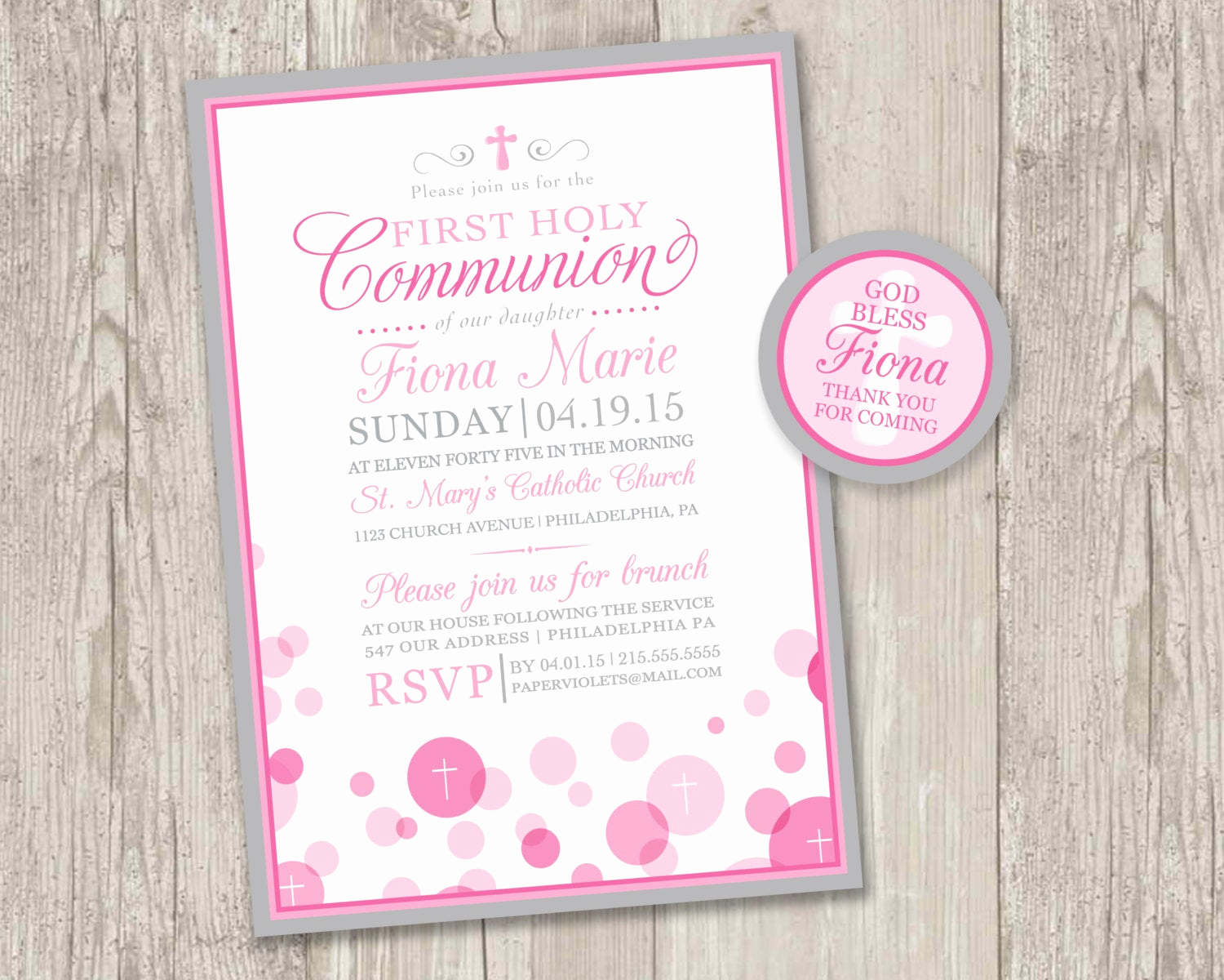 Printable First Communion Invitation Lovely Printable First Holy Munion Invitations & Free Matching