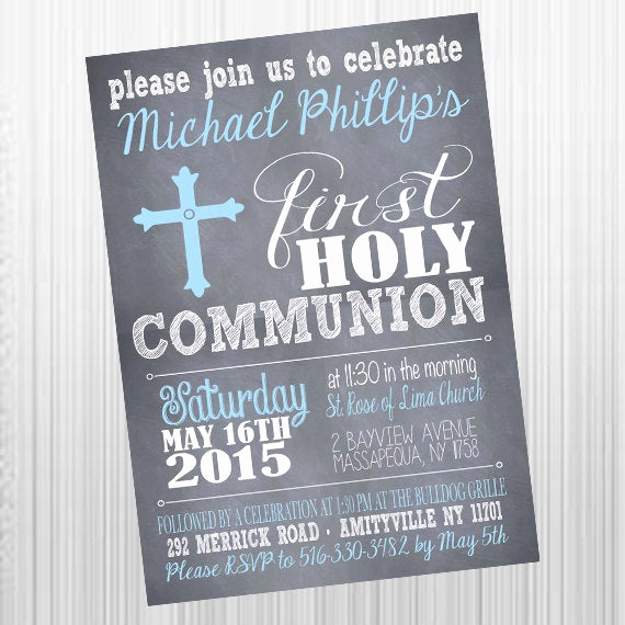 Printable First Communion Invitation Luxury Printable First Holy Munion Invitations Printable