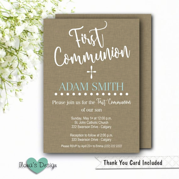 Printable First Communion Invitation New First Munion Invitation Boy Printable Munion