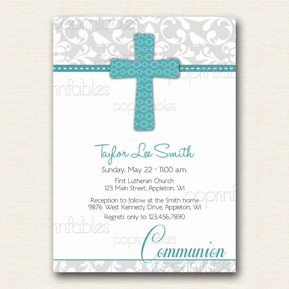 Printable First Communion Invitation Unique Etsy Your Place to and Sell All Things Handmade