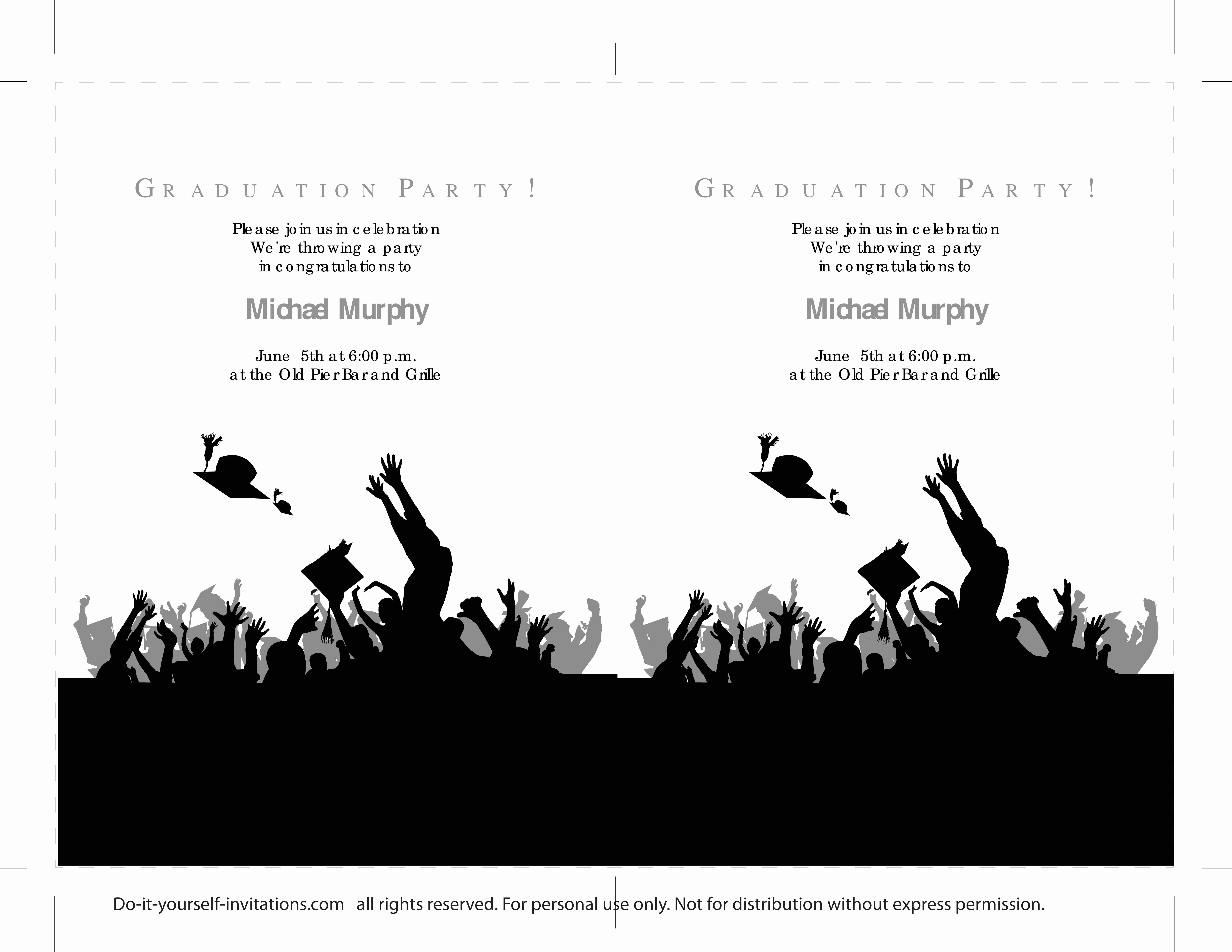 Printable Graduation Invitation Templates Beautiful 40 Free Graduation Invitation Templates Template Lab