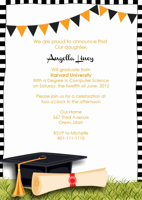 Printable Graduation Invitation Templates Beautiful Free Graduation Party Invitation