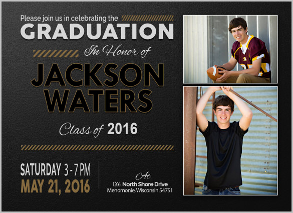 Printable Graduation Invitation Templates Elegant 25 Graduation Invitation Templates Psd Vector Eps Ai