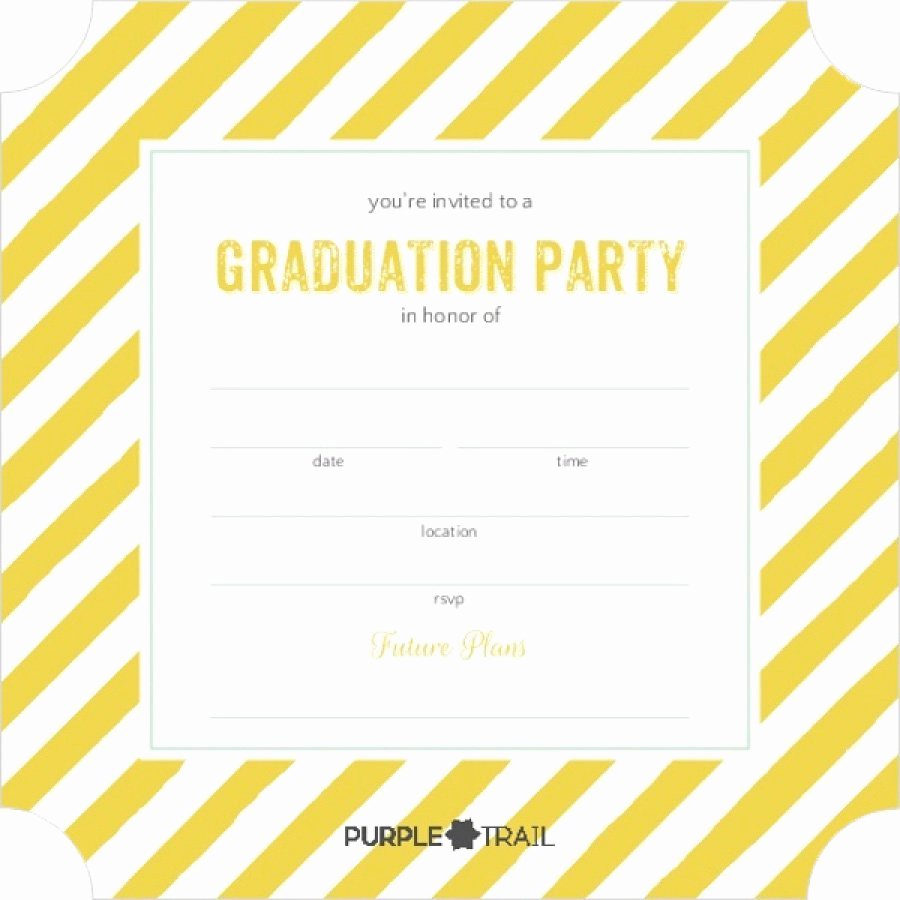 Printable Graduation Invitation Templates Luxury 40 Free Graduation Invitation Templates Template Lab