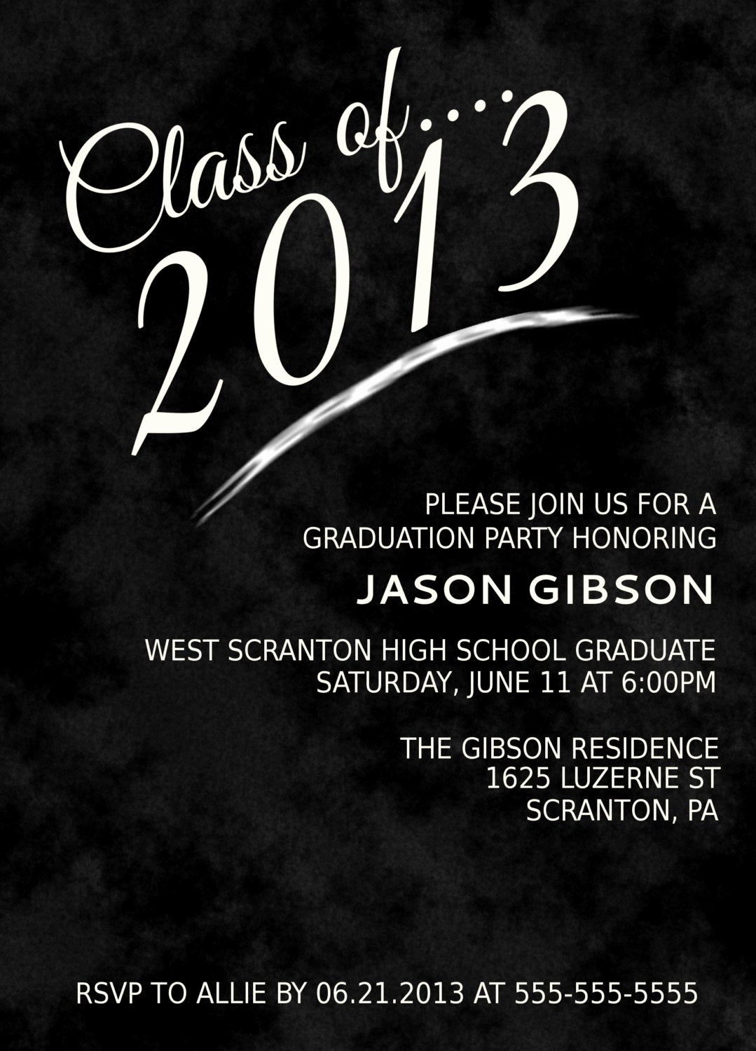 Printable Graduation Party Invitation Best Of Printable Graduation Party Invitation Announcement Various