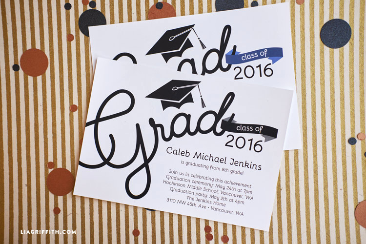 Printable Graduation Party Invitation Lovely Graduation Party Invitations Lia Griffith