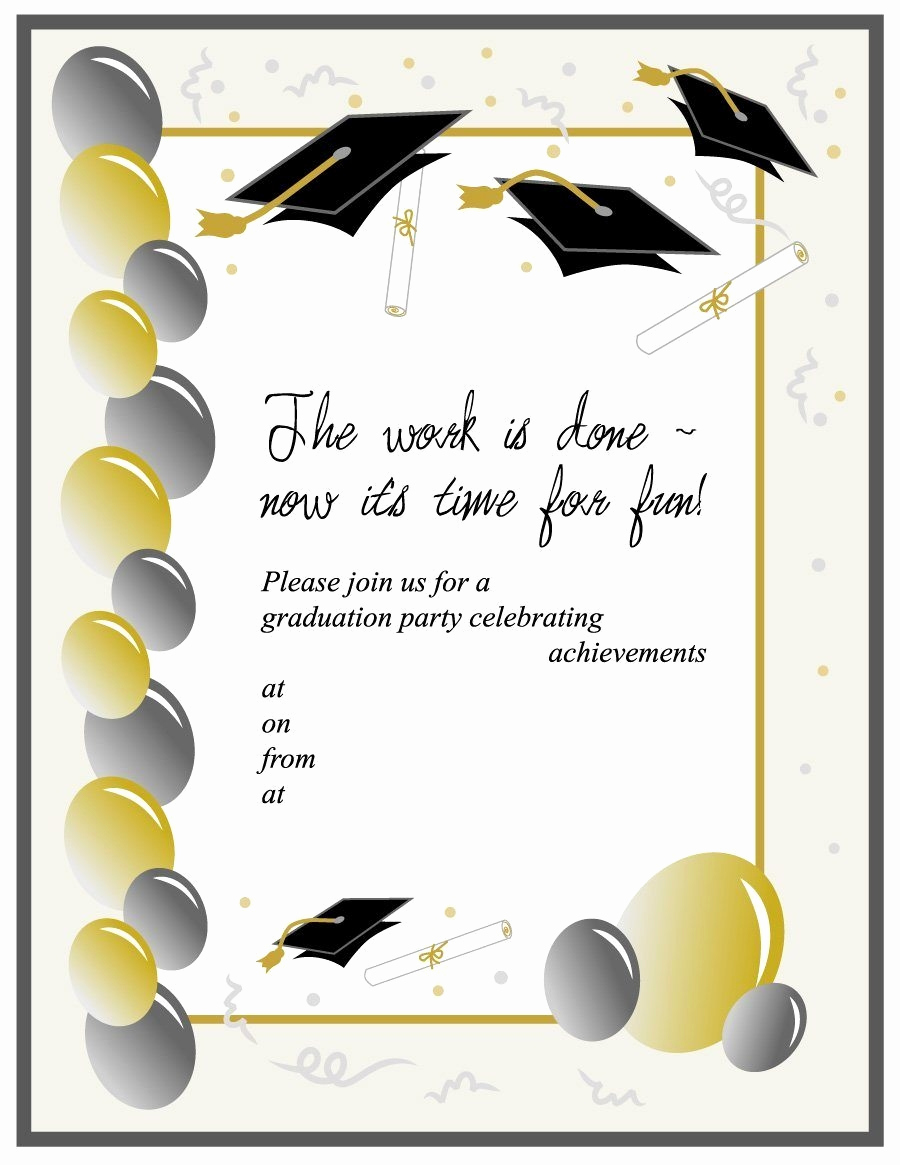 Printable Graduation Party Invitation New Free Graduation Announcement Templates