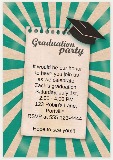 Printable Graduation Party Invitation Unique 33 Free Printable Graduation Invitations Templates