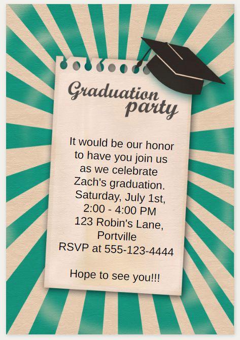 Printable Graduation Party Invitation Unique 33 Free Printable Graduation Invitations Templates