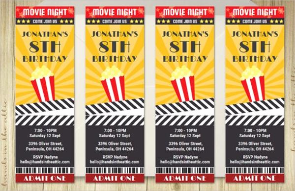 Printable Movie Ticket Invitation Fresh 56 Printable Ticket Templates Psd Ai Word